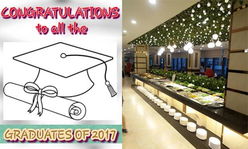 graduation promo buffet 2017