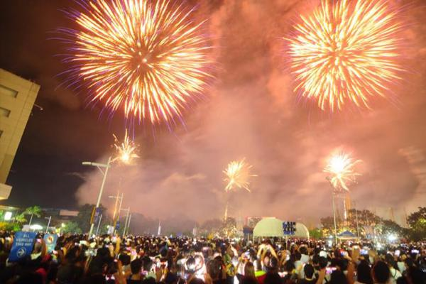 New Year fireworks Cebu
